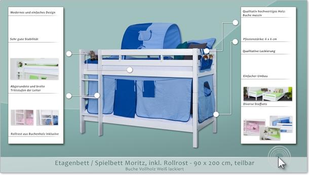 Etagenbett Spielbett Moritz : Kinderbett etagenbett moritz buche vollholz natur massiv mit