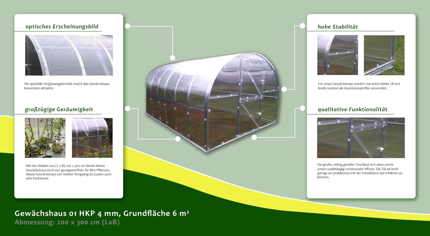 gew chshaus 01 hkp 4 mm grundfl che 6 m abmessungen. Black Bedroom Furniture Sets. Home Design Ideas