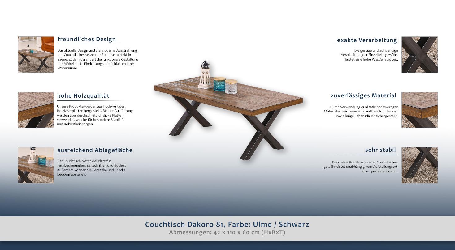 wohnzimmertisch farbe braun 42x110x60 cm h he cm 42 l nge tiefe cm 60 breite cm 110. Black Bedroom Furniture Sets. Home Design Ideas