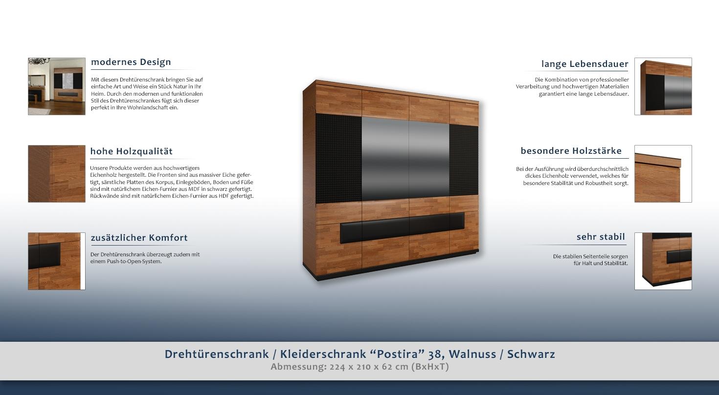 dreht renschrank kleiderschrank postira 38 farbe. Black Bedroom Furniture Sets. Home Design Ideas