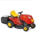 Rasenmäher Traktor mit Heckauswurf