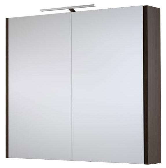 Bad Spiegelschrank Bidar 14 Farbe Eiche Schwarz 65 X 75 X 12