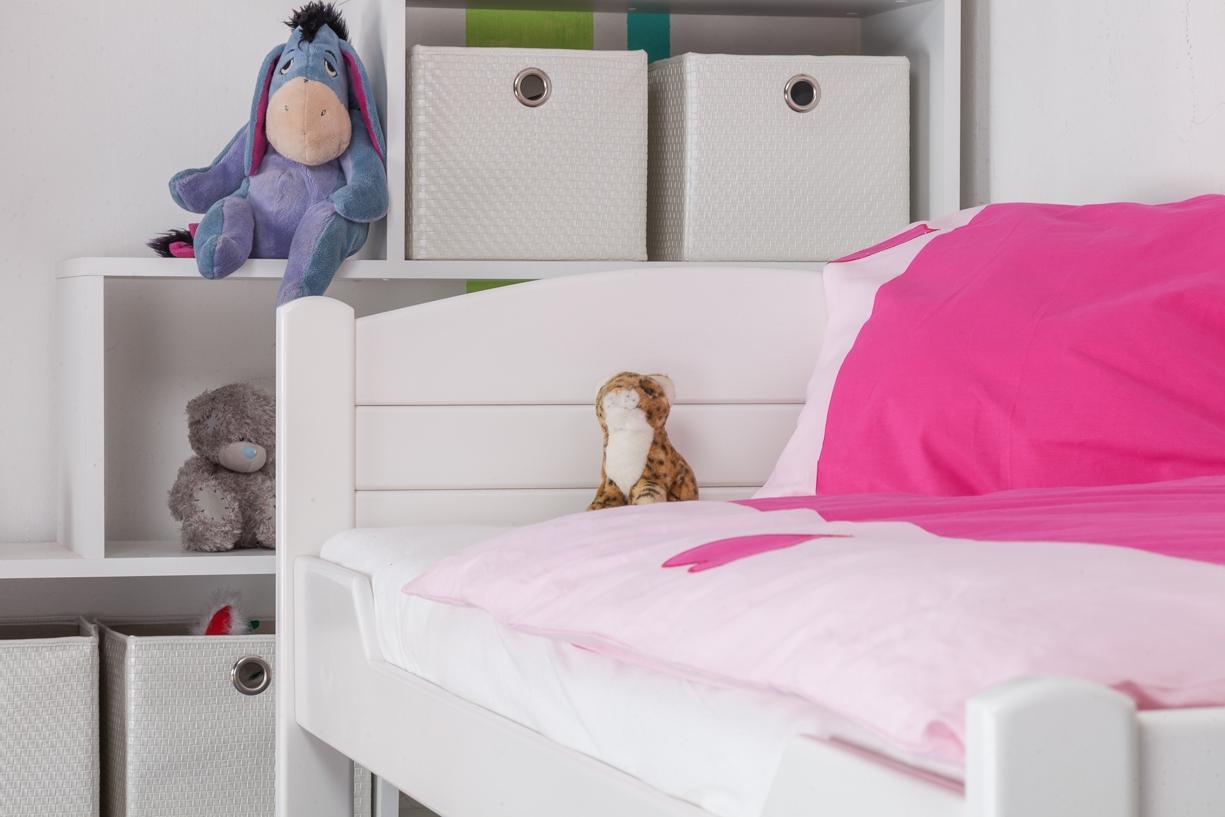 kinderbett jugendbett easy sleep k1 voll 90x200 buche. Black Bedroom Furniture Sets. Home Design Ideas