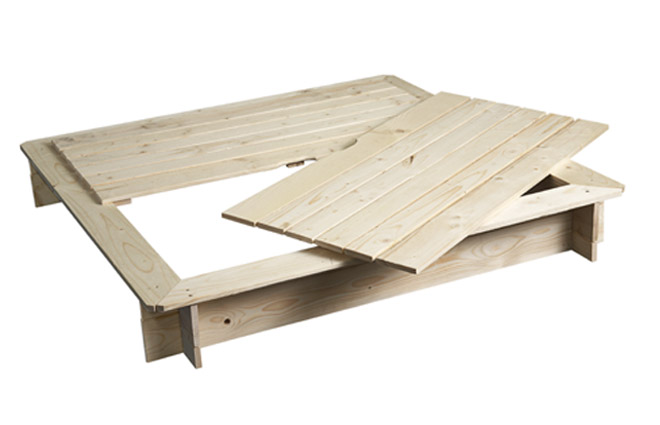 bearcounty sandkasten holz mit deckel unbehandelt ebay. Black Bedroom Furniture Sets. Home Design Ideas