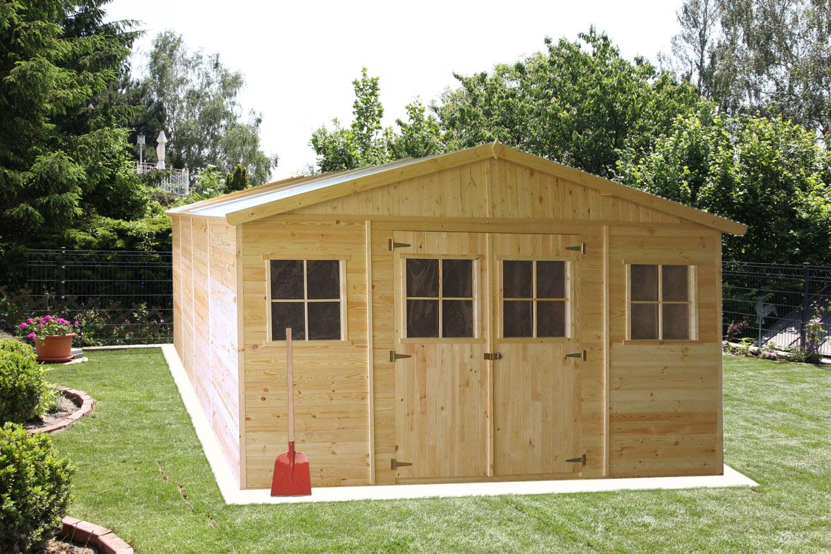 gartenhütte holz innsbruck - 4,14 x 4,20 meter aus 19mm blockbohlen
