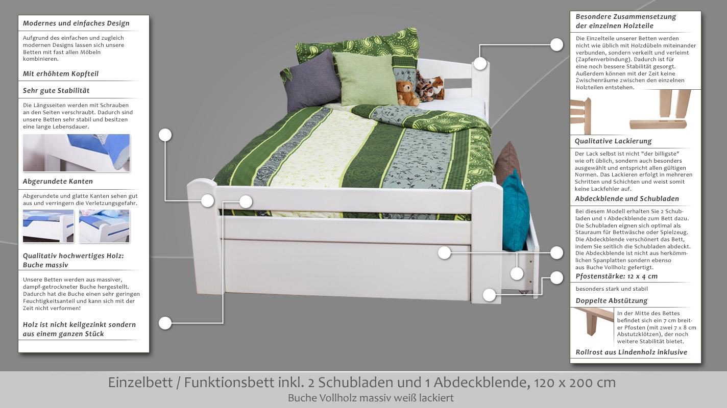 Bett 120x200 Mit Schubladen Top Bett 120x200 Mit Schubladen