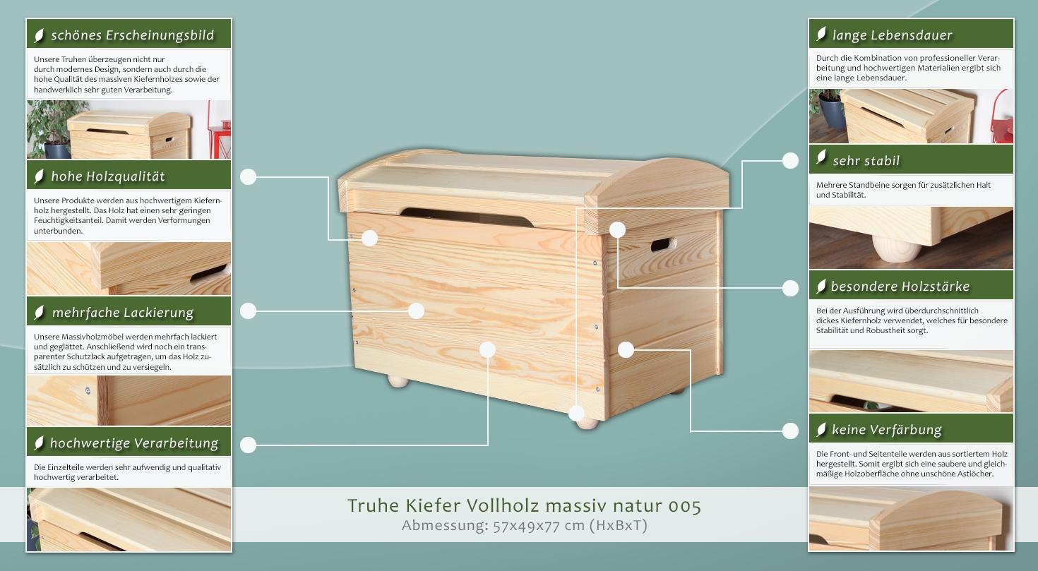 truhe aus kiefernholz 159 3383 h rm willhaben. Black Bedroom Furniture Sets. Home Design Ideas