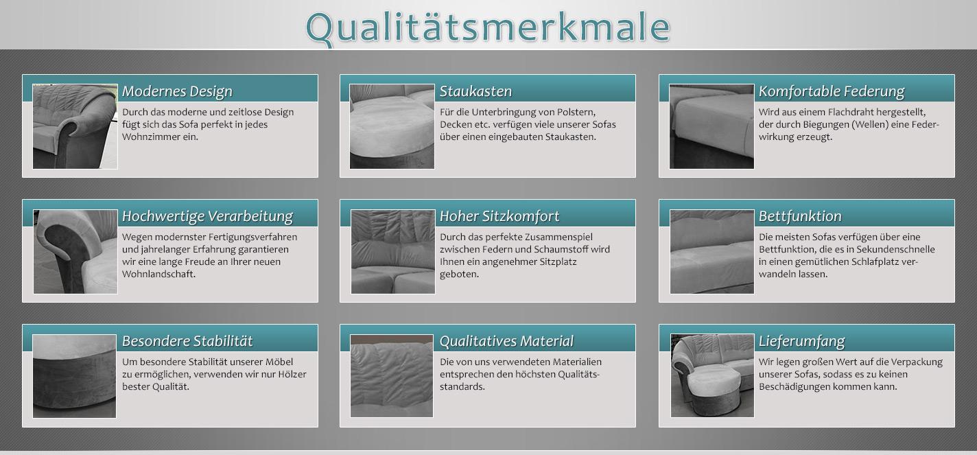 Wohnlandschaft-Set Calimero 1 mit Staukasten und Bettfunktion inkl ...