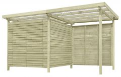 Gerätehaus 10, aus Kiefernholz, FSC® - Außenmaße: 408 x 254 x 225 cm (L x B x H)
