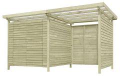 Gerätehaus 11, aus Kiefernholz, FSC® - Außenmaße: 408 x 254 x 225 cm (L x B x H)