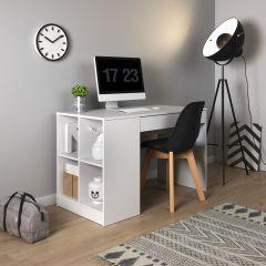 Schreibtisch Zarzis 03, Farbe: Weiß - 76 x 120 x 60 cm (H x B x T)