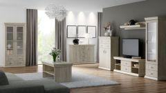 Wohnzimmer Komplett - Set B Wewak, 7-teilig, Farbe: Sonoma Eiche