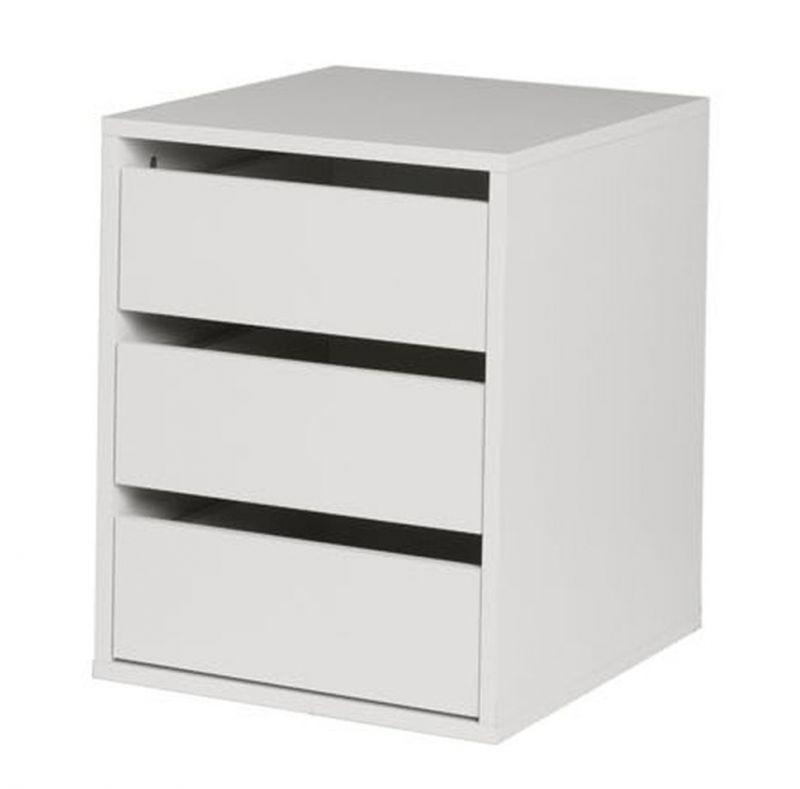 Schubkasteneinsatz für Serie Farsala und Thiva, Farbe: Weiß - Abmessungen: 52 x 40 x 50 cm (H x B x T)