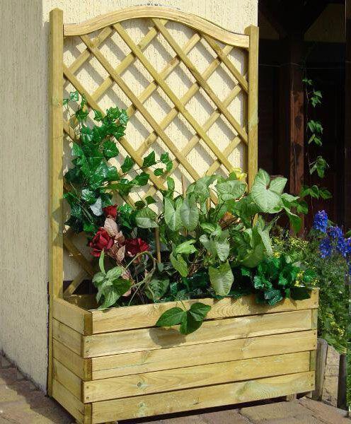 Blumenkasten mit Rankgitter Alata 3 - Abmessung: 90 x 40 x 140 cm (B x T x H)