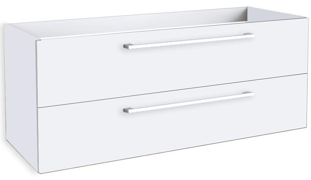 Waschtischunterschrank Rajkot 67, Farbe: Weiß matt – 50 x 119 x 45 cm (H x B x T)