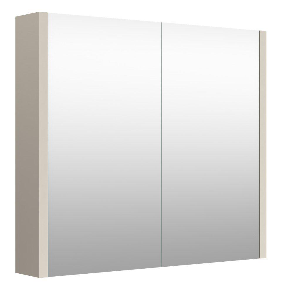 Badezimmer - Spiegelschrank Noida 03, Farbe: Beige – 65 x 73 x 12 cm (H x B x T)