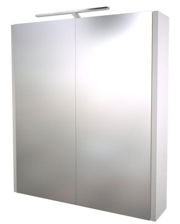 Bad Spiegelschrank Bidar 04 Farbe Weiss Glanzend 65 X 60 X 12