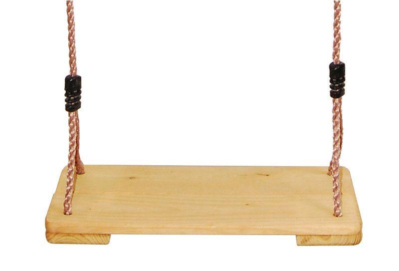 Schaukelsitz aus Holz inkl. Seil
