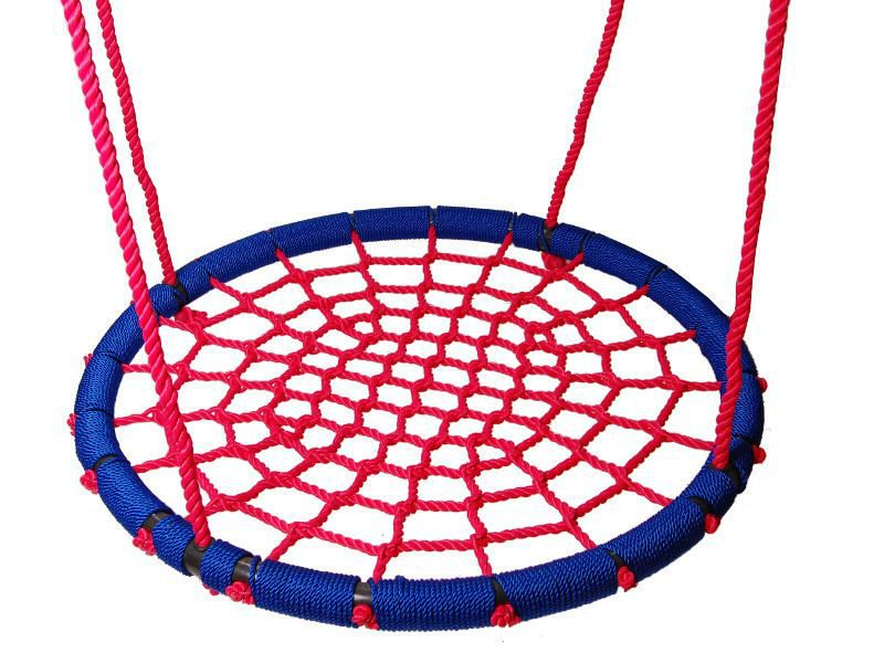 Nestschaukel 02 inkl. Seil, Durchmesser: 100 cm - Farbe: Rot / Blau