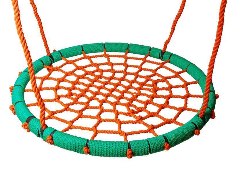 Nestschaukel 02 inkl. Seil, Durchmesser: 100 cm - Farbe: Orange / Grün
