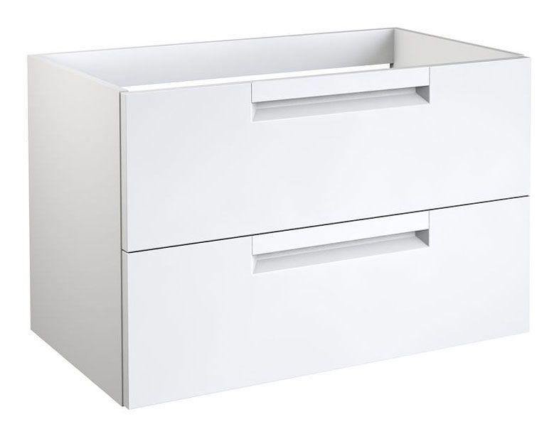 Waschtischunterschrank Meerut 56, Farbe: Weiß matt – 50 x 79 x 45 cm (H x B x T)