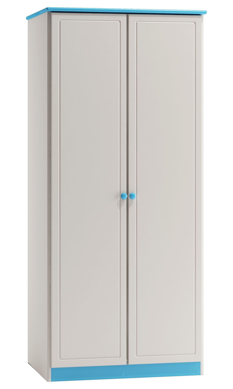 Kiefer Schrank A Qualitat Farbe Weiss Blau 160x80x60 Cm Turen