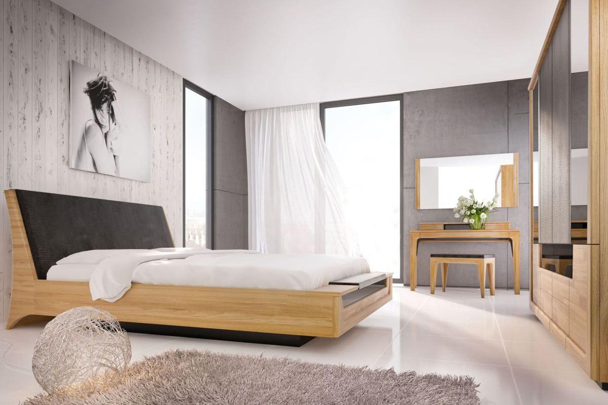 Schlafzimmer Komplett Set M Topusko 6 Teilig Teilmassiv Farbe Eiche Schwarz