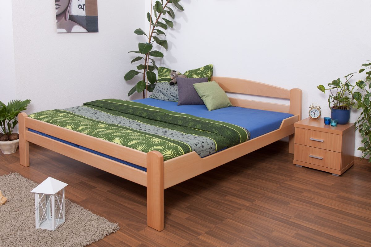 "Doppelbett ""Easy Premium Line"" K4, 180 x 200 cm Buche Vollholz massiv Natur"