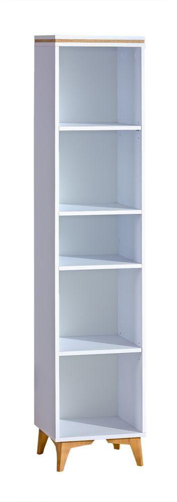 Regal Amanto 11, Farbe: Weiß Esche Abmessungen: 173 x 38