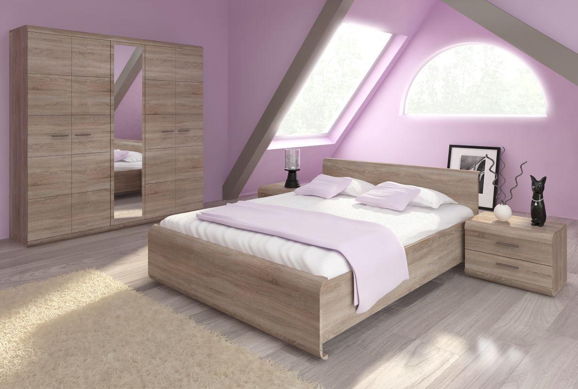 Schlafzimmer Komplett - Set E Gabes, 18-teilig, Farbe: Eiche Sonoma