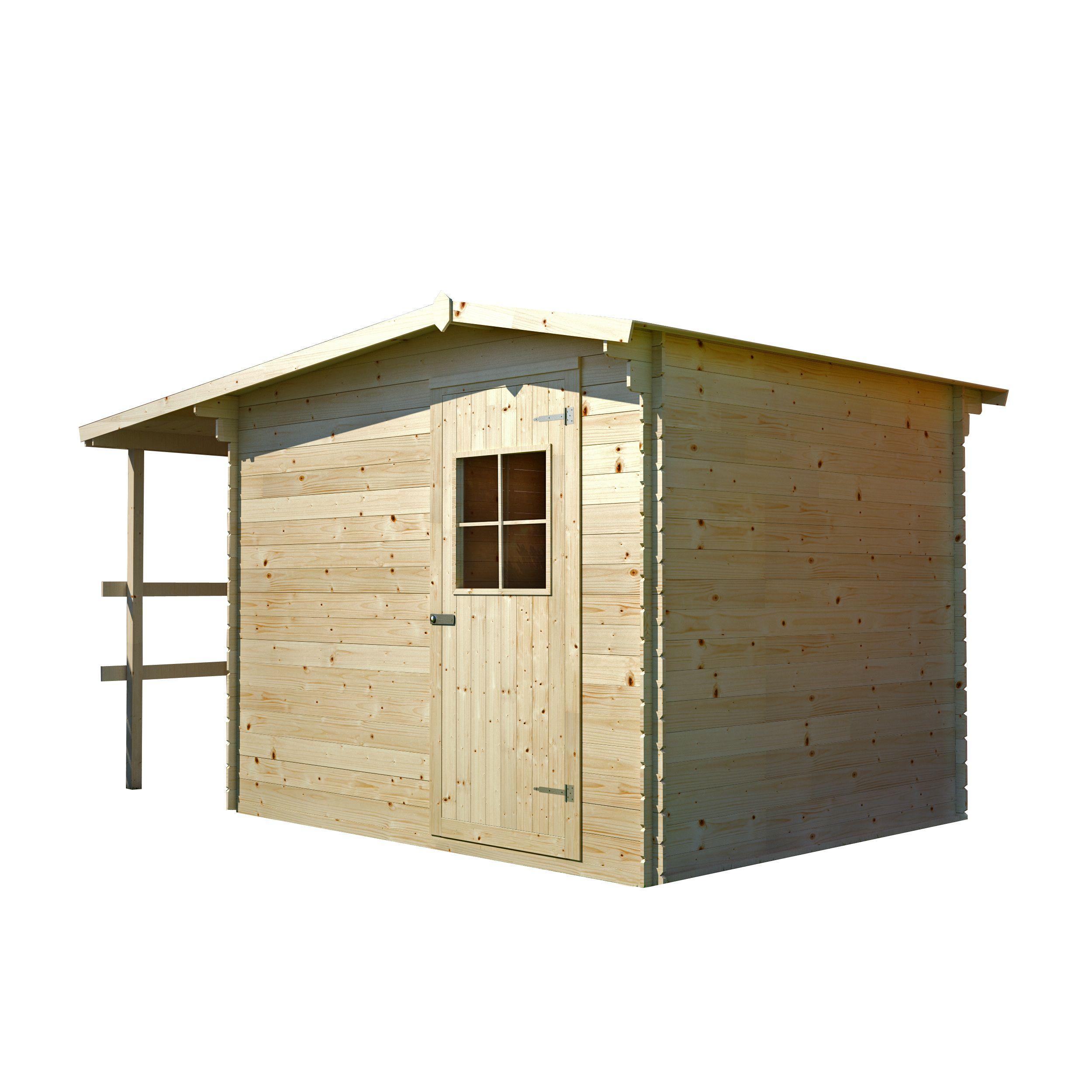 Gartenhaus Melk - 3,30 x 2,33 Meter aus 19 mm Blockbohlen