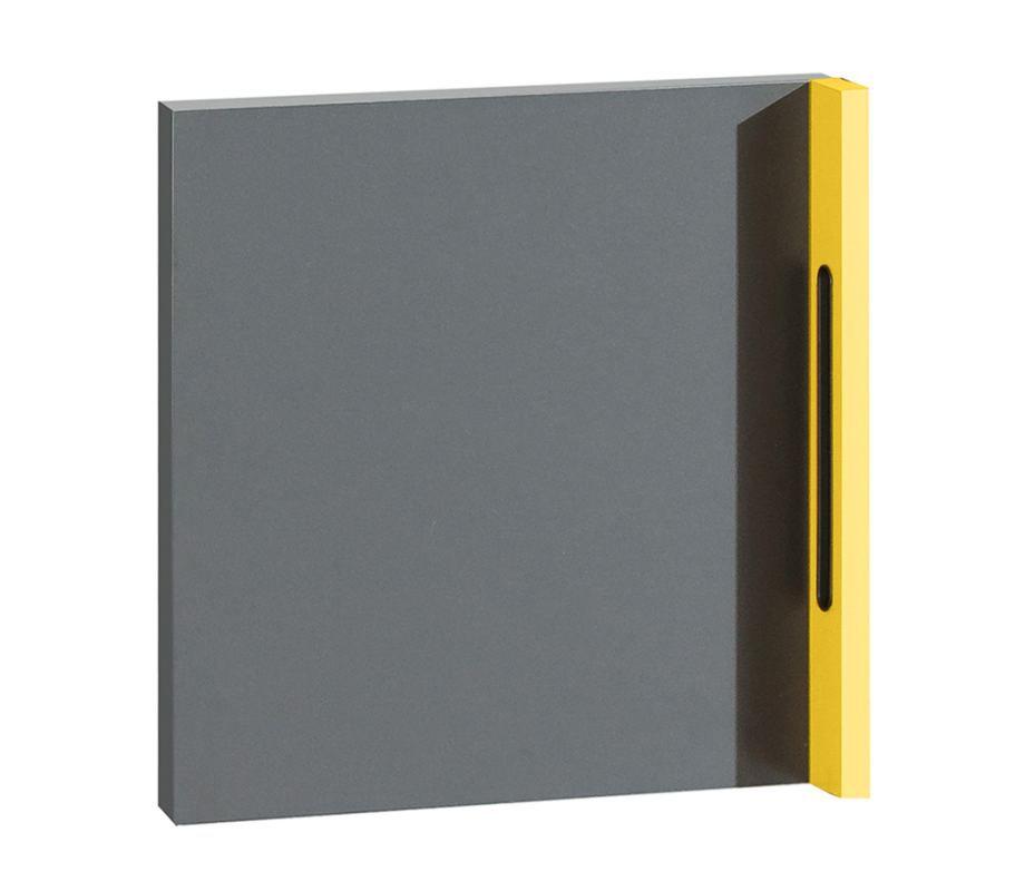 Tür Jakob, Farbe: Anthrazit / Gelb - 37 x 37 x 6 cm (H x B x T)