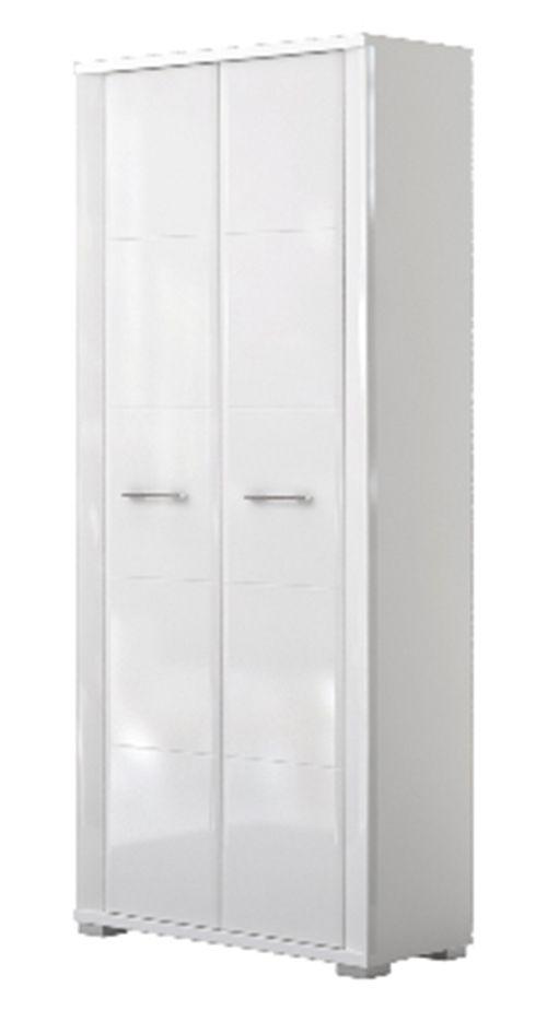 Schrank Sili 01, Farbe: Weiß - Abmessungen: 192 x 80 x 36 cm (H x B x T)