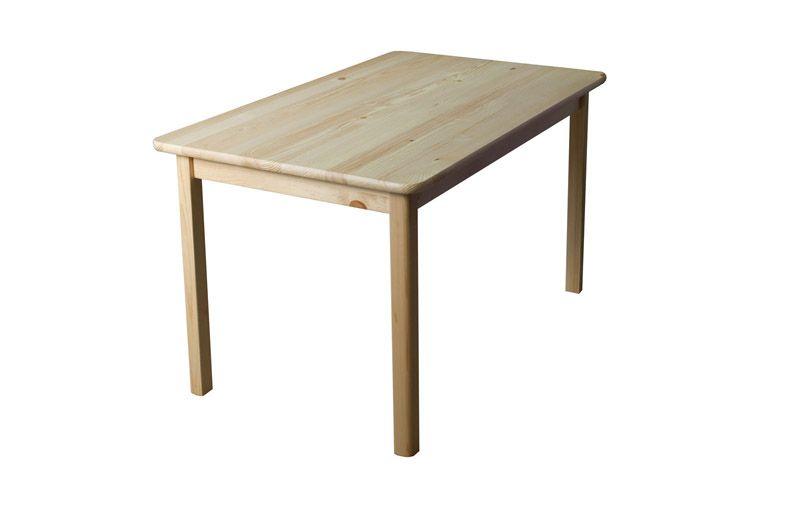 Tisch Kiefer massiv Vollholz natur 001 (eckig) - Abmessung 120 x 80 cm (B x T)