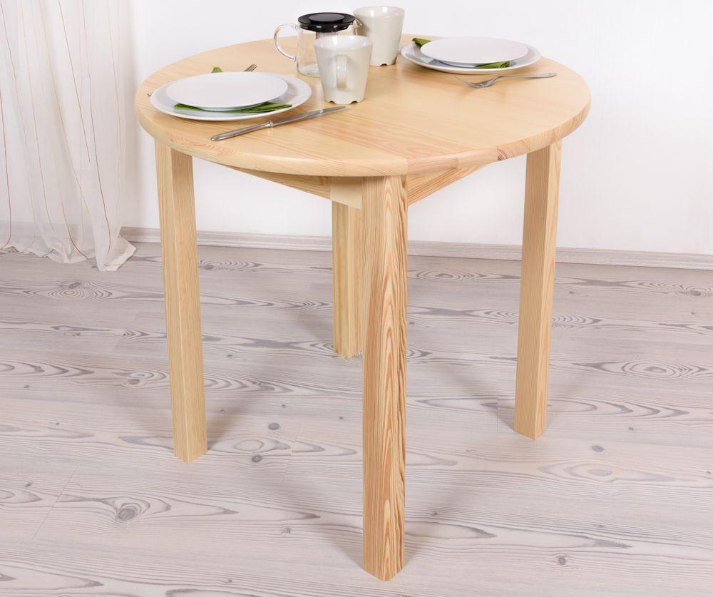 Tisch Kiefer massiv Vollholz natur Junco 234B (rund) - Durchmesser 80 cm