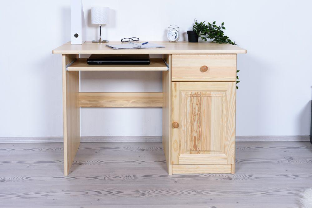 Schreibtisch Kiefer massiv Vollholz natur Junco 190 - Abmessungen: 74 x 110 x 55 cm (H x B x T)