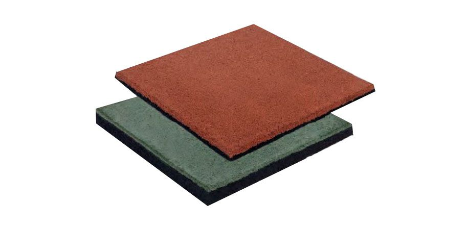 Fallschutzmatte, Stärke: 4,5 cm - Farbe: rot