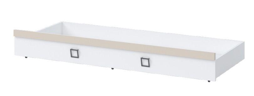 Bettkasten für Bett Benjamin, Farbe: Weiß / Creme - Liegefläche: 80 x 190 cm (B x L)