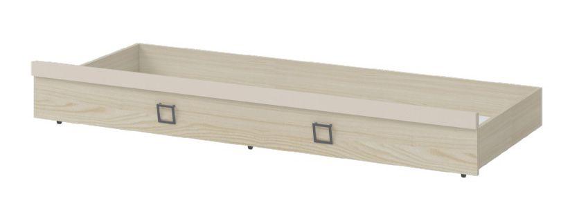 Bettkasten für Bett Benjamin, Farbe: Esche / Creme - Liegefläche: 80 x 190 cm (B x L)