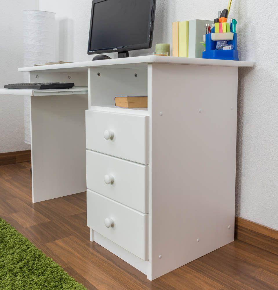 Kinderschreibtisch Holz weiß