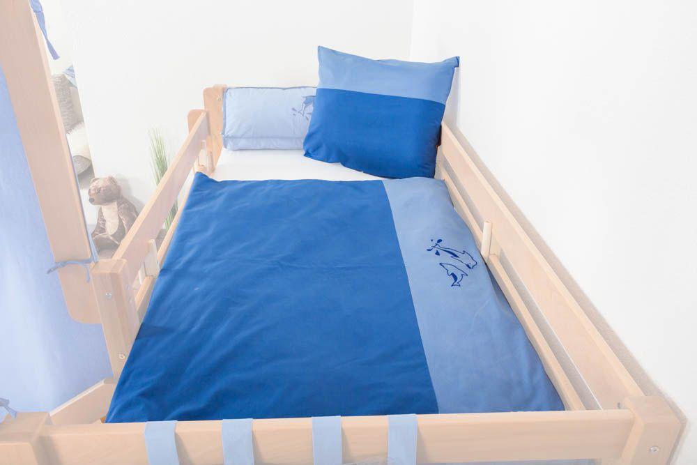 Motiv - Kinder - Bettwäsche 2-teilig - Farbe: Delphin