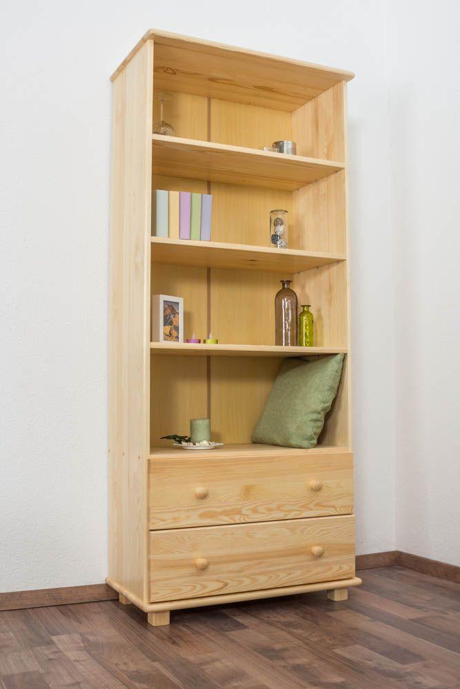 Bücherregal Massivholz B001 - Abmessung 190 x 80 x 42 cm (H x B x T)