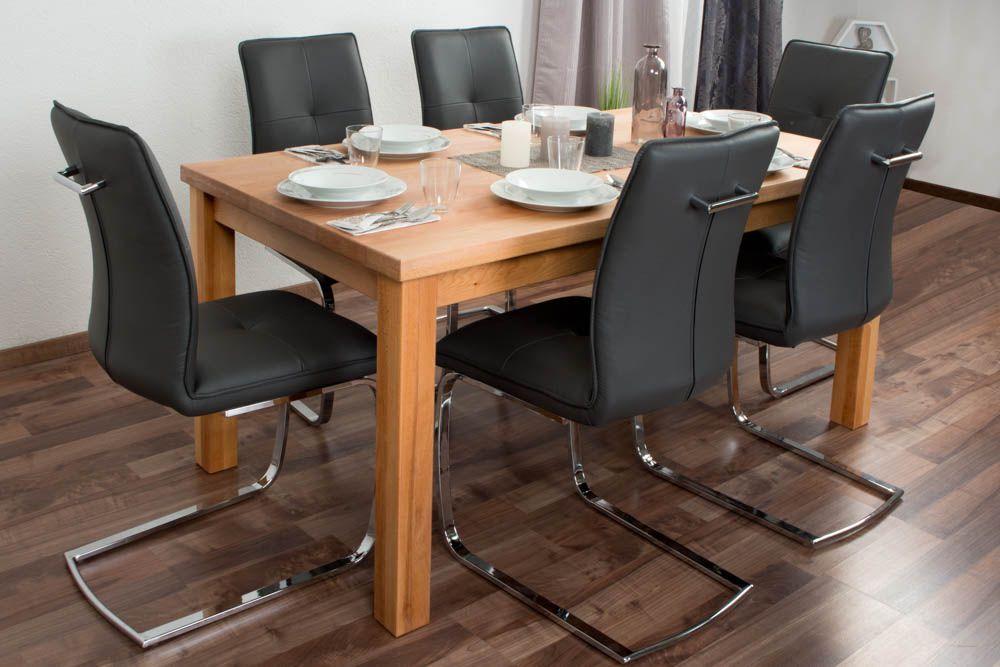 esstisch mit 6 stühlen set