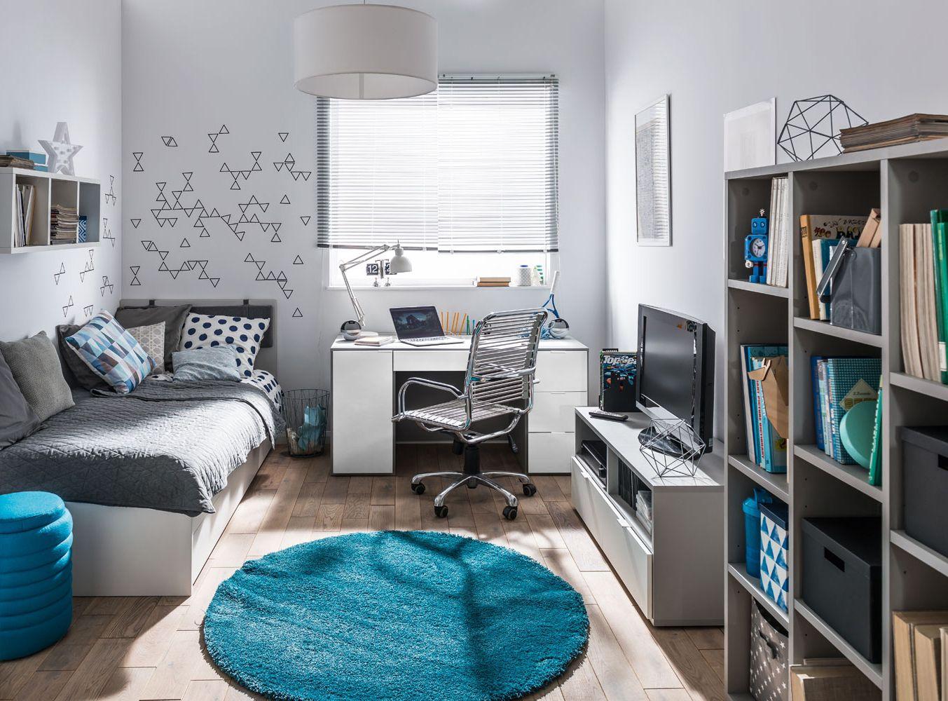 Jugendzimmer Komplett Set B Bellaco 6 Teilig Farbe Weiss Grau