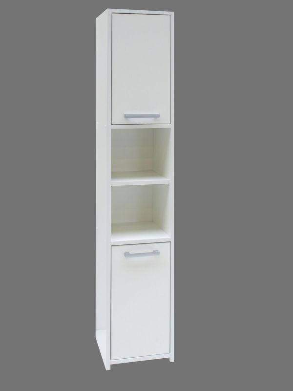 Hochschrank Cerri 01, Farbe: Weiß - 170 x 30 x 30 cm (H x B x T)