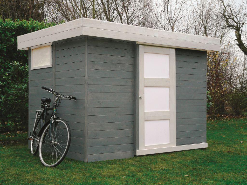 Gartenhaus Pirum S8715 - 19 mm Blockbohlenhaus, Grundfläche: 4,85 m², Flachdach