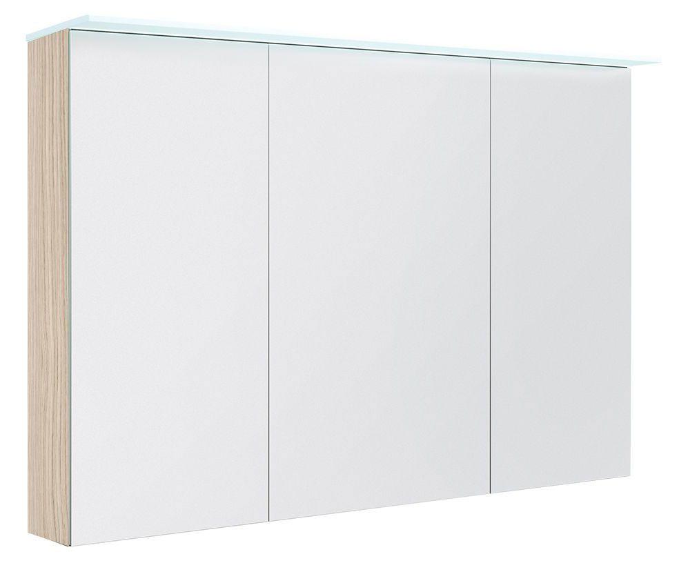 Badezimmer - Spiegelschrank Siliguri 30, Farbe: Esche hell – 70 x 120 x 13 cm (H x B x T)