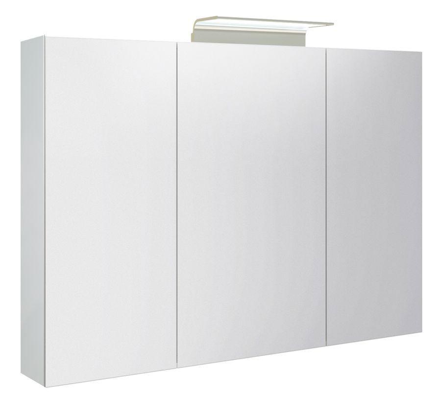 Badezimmer - Spiegelschrank Belgaum 18, Farbe: Weiß glänzend – 70 x 100 x 13 cm (H x B x T)