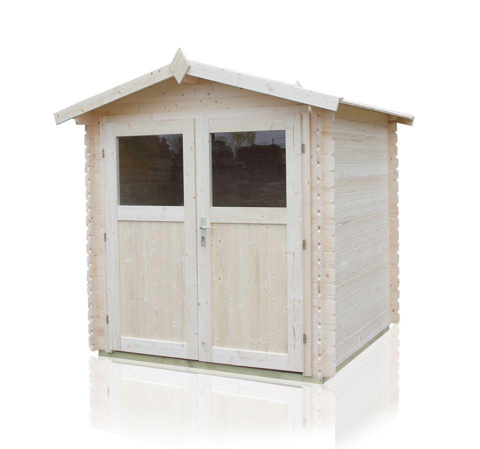 Gartenhaus Sommerruhe 4 - 2,40 x 2,40 Meter aus 19 mm Blockbohlen