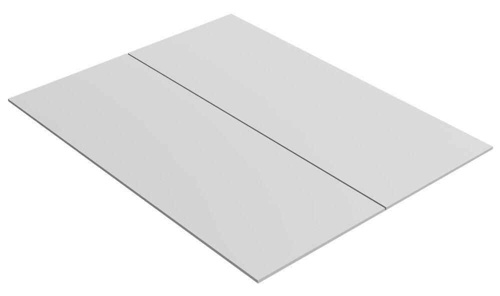 Bodenplatte für Doppelbett, Farbe: Weiß - 79,20 x 204 cm (B x L)